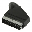 VLVP31990B Connector SCART Male PVC Zwart