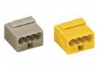 WG243504 MICRO PUSH-WIRE CONNECTOR FOR JUNCTION BOXES 4-CONDUCTOR TERMINAL BLOCK, YELLOW