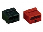 WG243804 MICRO PUSH-WIRE CONNECTOR FOR JUNCTION BOXES 4-CONDUCTOR TERMINAL BLOCK, RED