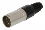 XLR-5M Connector XLR 5-Pin Male Metaal Zilver