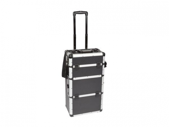 ALUMINIUM TROLLEY - 370 x 270 x 670 mm - ZWART