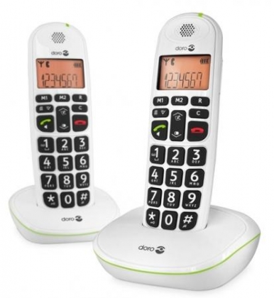 Doro PhoneEasy 100w Duo Dect White