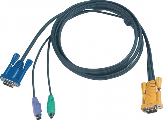 KVM Kabel VGA Male / 2x PS/2-Connector - Aten SPHD15-Y 6.0 m