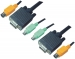 2L-1901P KVM Kabel VGA Male / 2x PS/2-Connector / 2x 3.5 mm Male - VGA Male / 2x PS/2-Connector / 2x 3.5 mm Male 1.0 m