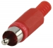 CC-006R Connector RCA Male PVC Rood