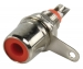 CC-115 Connector RCA Male Metaal Zilver/Rood
