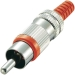 LUM-XSTO11R Connector RCA Male Rood