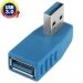 SYPC1035BE USB 3.0 A Male naar USB 3.0 A Female Adapter