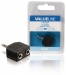 VLAB22945B Stereo-Audio-Adapter 3.5 mm Male - 2x 3.5 mm Female Zwart