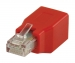 VLCP89251R CAT6 Netwerk Adapter RJ45 (8/8) Male - RJ45 (8/8) Female Rood